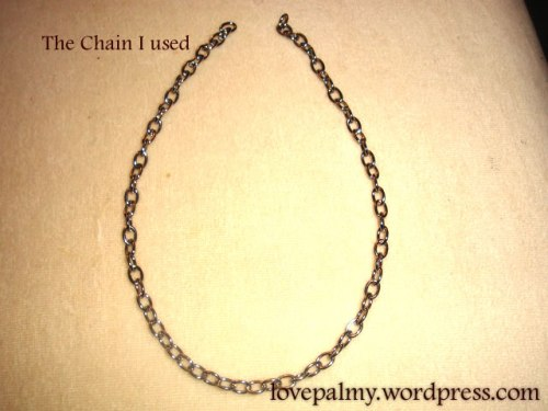 The style of chain I chose to use