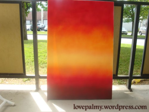 Background canvas with spray paint